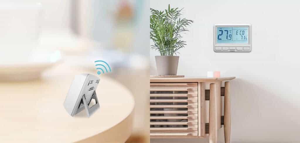 brezzicna povezava med termostatom in relejno enoto