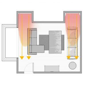 namestitev infrardecih panelov v prizidek