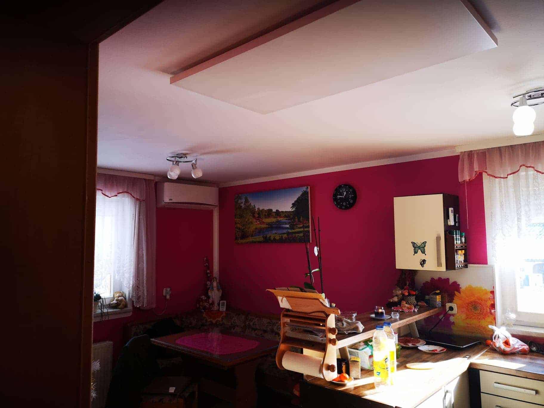 stropna namestitev ir panelov