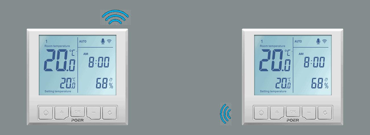 wifi povezava poer smart termostatov